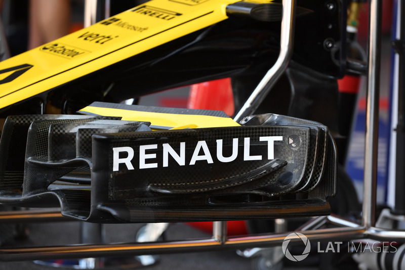 Renault Sport F1 Team R.S. 18 front wing detail