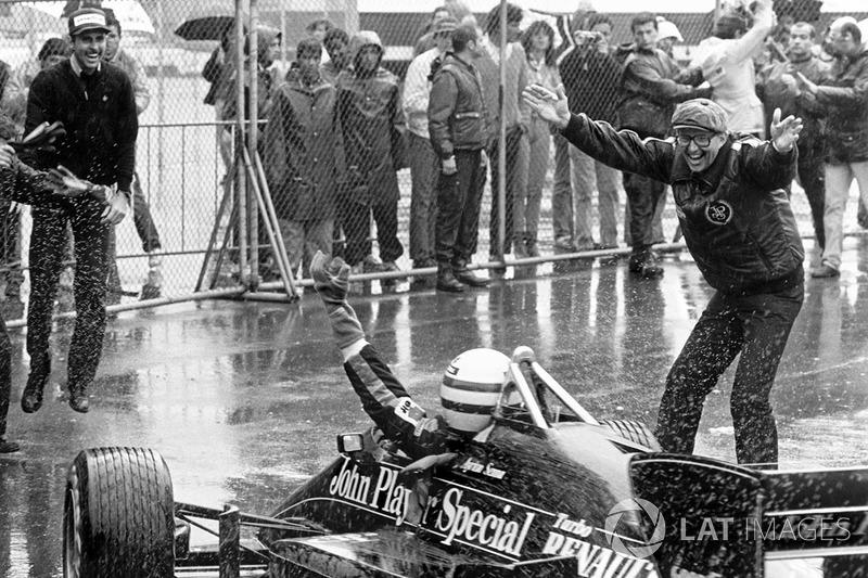 Yarış galibi Ayrton Senna, Lotus 97T