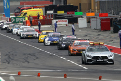 Safety car drives thru pitlane