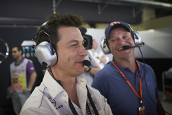 Toto Wolff, Executive Director Mercedes AMG F1, with Rubens Barrichello