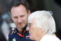 Руководитель Red Bull Racing Кристиан Хорнер и Берни Экклстоун