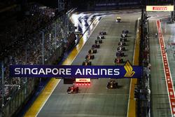 Start zum GP Singapur 2017