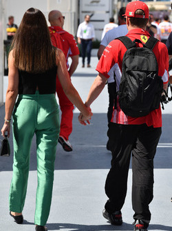 Kimi Raikkonen, Ferrari con la moglie Minttu Virtanen