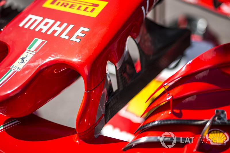 Ferrari SF71H ön kanat detay