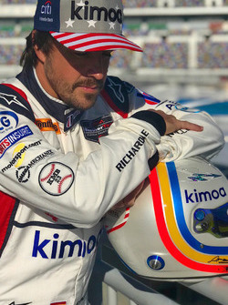 Fernando Alonso, United Autosports poses during a photoshoot