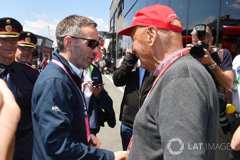 Niki Lauda, Mercedes AMG F1 y Herbert Kickl, ministro del Interior austriaco