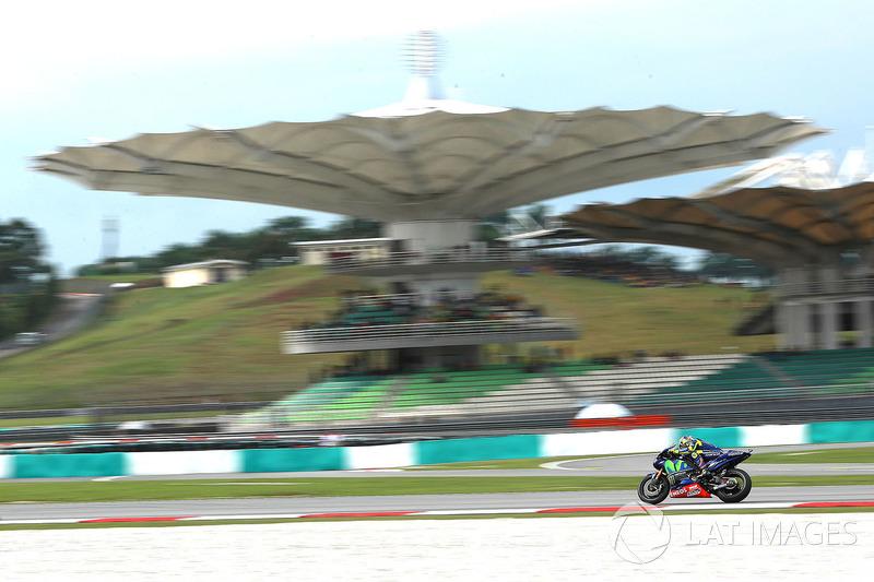 Valentino Rossi, que chegou a estar em 11º, terminou em sétimo.