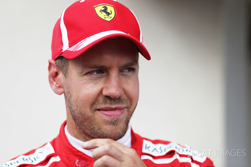 Il terzo qualificato Sebastian Vettel, Ferrari