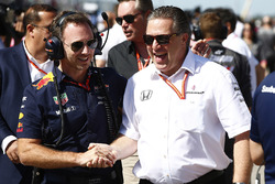 Christian Horner, Team Principal, Red Bull Racing, Zak Brown, Executive Director, McLaren Technology