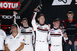 Podium: second place #911 Manthey Racing Porsche 911 GT3 R: Earl Bamber, Nick Tandy, Patrick Pilet