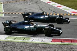 Winner Lewis Hamilton, Mercedes AMG F1 W08, second place Valtteri Bottas, Mercedes AMG F1 W08