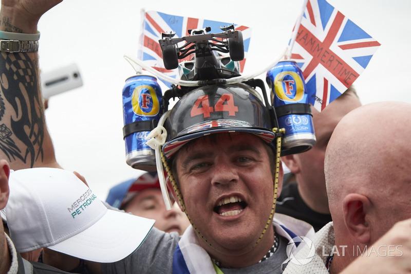 A fan of Lewis Hamilton, Mercedes AMG F1, a wild hat