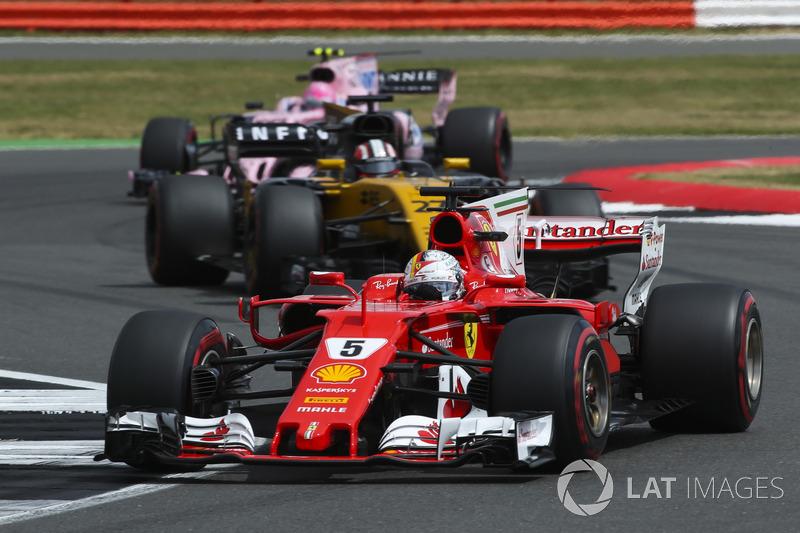 Себастьян Феттель, Ferrari SF70H, Ніко Хюлькенберг, Renault Sport F1 Team RS17