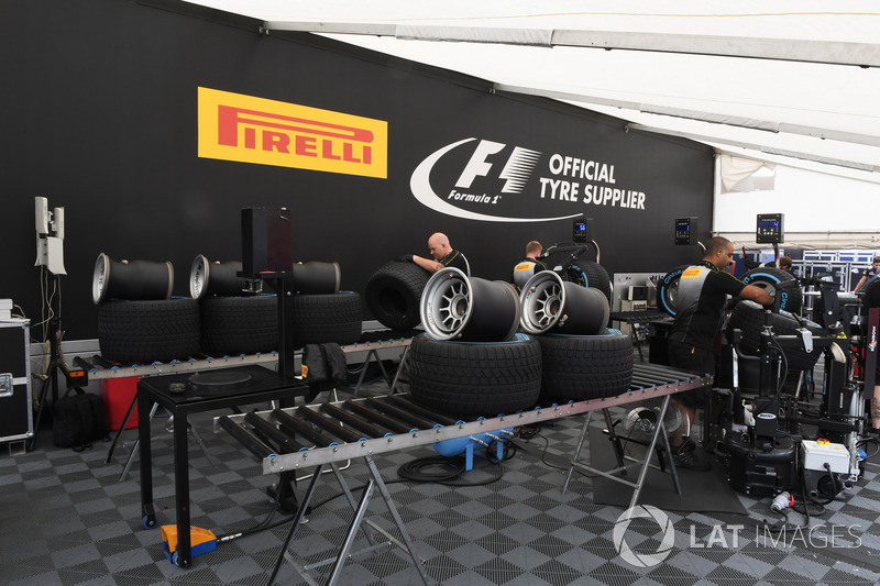 Зона підготування шин Pirelli