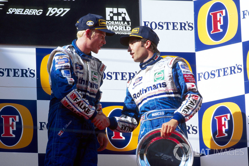 1997: 1.Jacques Villeneuve y 3.Heinz-Harald Frentzen (2º fue David Coulthard)