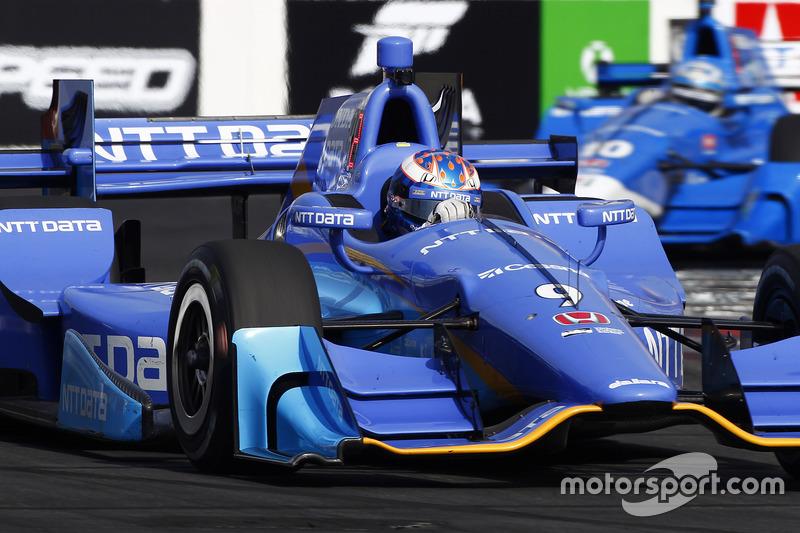 Scott Dixon, Chip Ganassi Racing Honda; Tony Kanaan, Chip Ganassi Racing Honda
