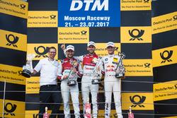 Podium: 1. René Rast, Audi Sport Team Rosberg, Audi RS 5 DTM; 2. Mike Rockenfeller, Audi Sport Team Phoenix, Audi RS 5 DTM; 3. Marco Wittmann, BMW Team RMG, BMW M4 DTM
