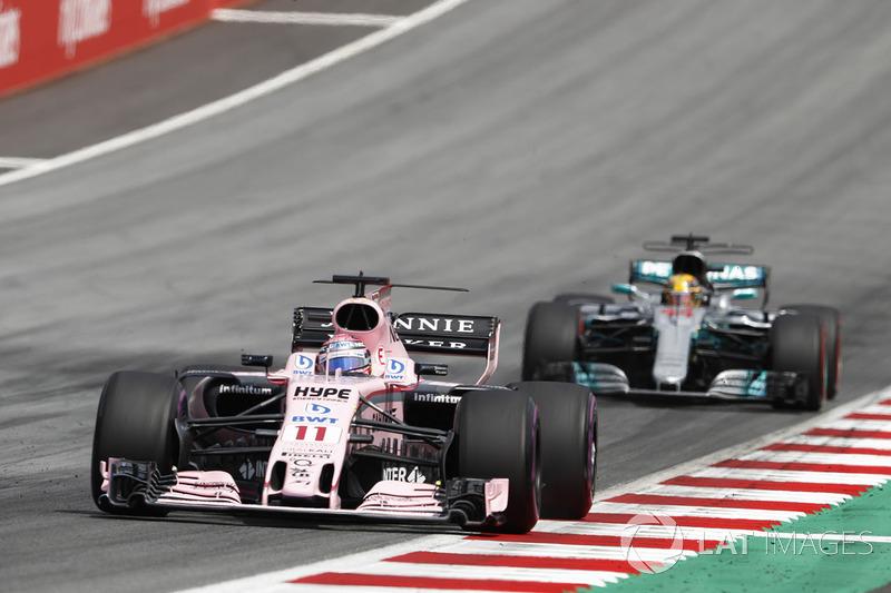 Серхіо Перес, Sahara Force India F1 VJM10, Льюіс Хемілтон, Mercedes AMG F1 W08