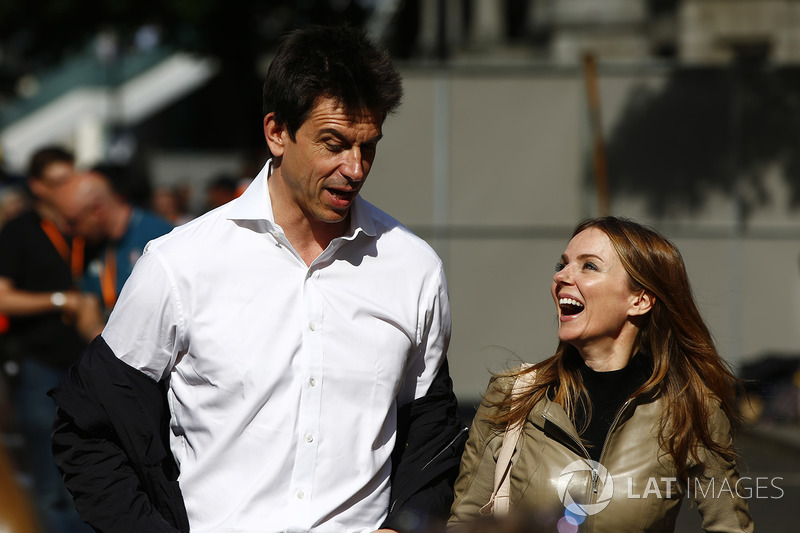 Toto Wolff, Executive Director Mercedes AMG F1 , Geri Horner