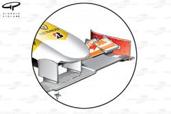 Renault R29 2009 front wing flap addition