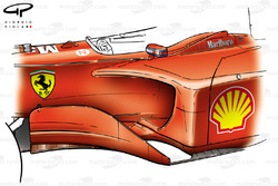 Ferrari F2001 chassis, bargeboard and sidepod detail