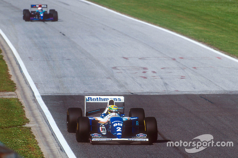 Ayrton Senna, Williams FW16; Roland Ratzenberger, Simtek S941