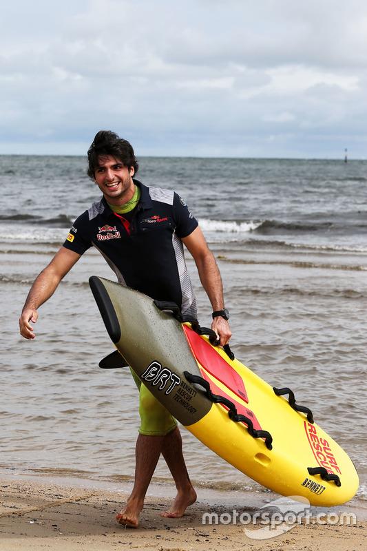 Carlos Sainz Jr., Scuderia Toro Rosso, am St. Kilda Beach
