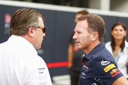 Zak Brown, McLaren-Chef, Christian Horner, Red-Bull-Teamchef