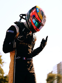 Jean-Eric Vergne, Techeetah, celebrates after winning the race