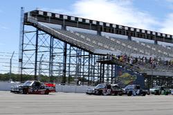 Ben Rhodes, ThorSport Racing Toyota, Kyle Busch, Kyle Busch Motorsports Toyota, Christopher Bell, Kyle Busch Motorsports Toyota