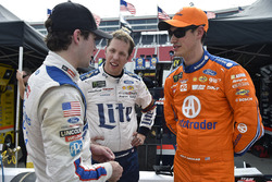 Ryan Blaney, Wood Brothers Racing, Ford; Brad Keselowski, Team Penske, Ford; Joey Logano, Team Penske, Ford
