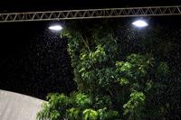 Rain under the lights