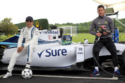 Felipe Massa, Williams with Chelsea FC player Eden Hazard