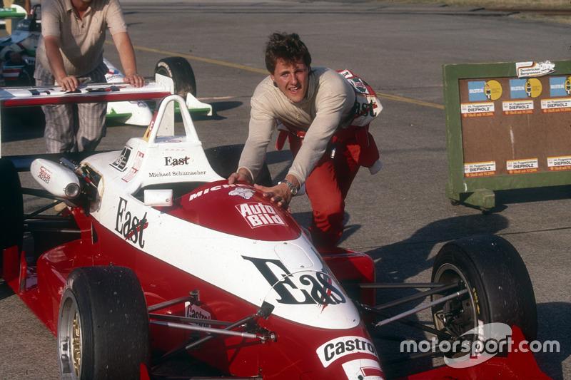 Michael Schumacher in der Deutschen Formel 3 in Diepholz 1990
