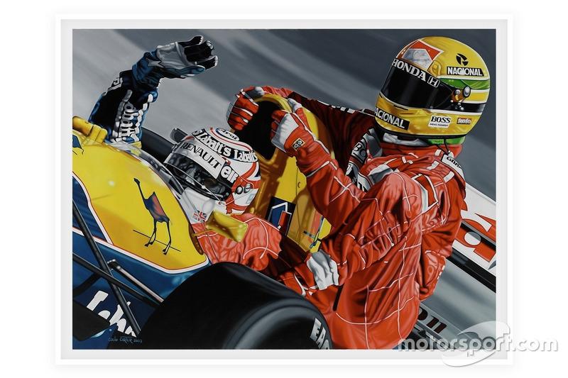 "Affiche F1 ""Deux Légendes"" - Mansell/Senna, GP de Grande-Bretagne 1991"
