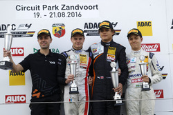 Podium: Winner Kami Laliberté, Van Amersfoort Racing ; 2. Jonathan Aberdein, Motopark;3. Felipe Drugovich, Neuhauser Racing