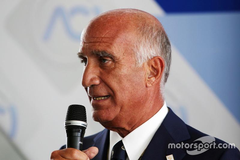 Dr. Angelo Sticchi Damiani, Presidente Aci Csai all'annuncio al circuito di Monza