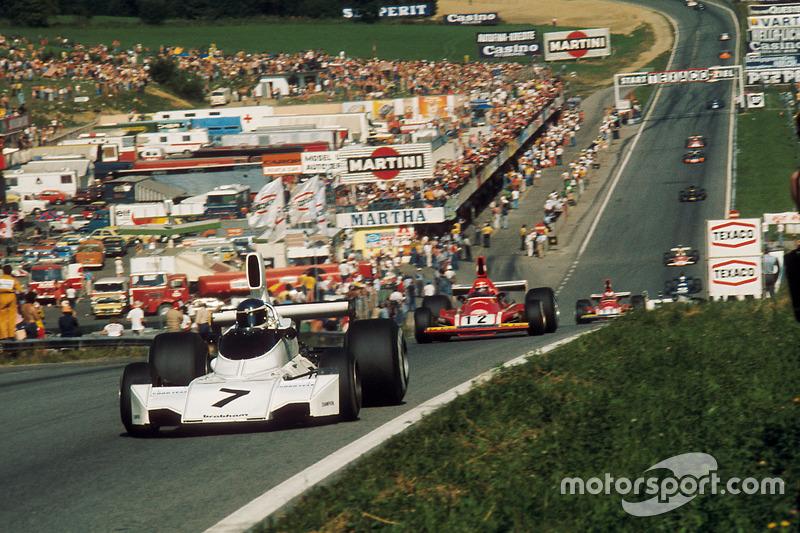 Carlos Reutemann, Brabham BT44 Ford y Niki Lauda, Ferrari 312B3