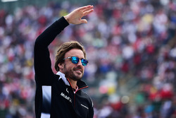 Фернандо Алонсо, McLaren on the drivers parade