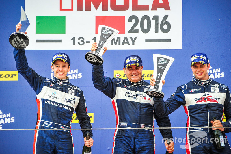 Podium: winners LMP3 #2 United Autosports Ligier JSP3 - Nissan: Alex Brundle, Mike Guasch, Christian