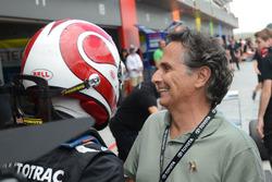 Winner Pedro Piquet and Nelson Piquet