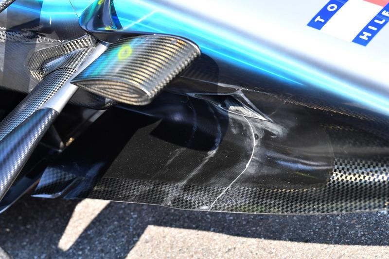Detalle del morro del Mercedes AMG F1 W09