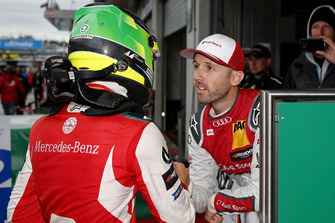 Race winner Mick Schumacher, PREMA Theodore Racing Dallara F317 - Mercedes-Benz and René Rast, Audi Sport Team Rosberg