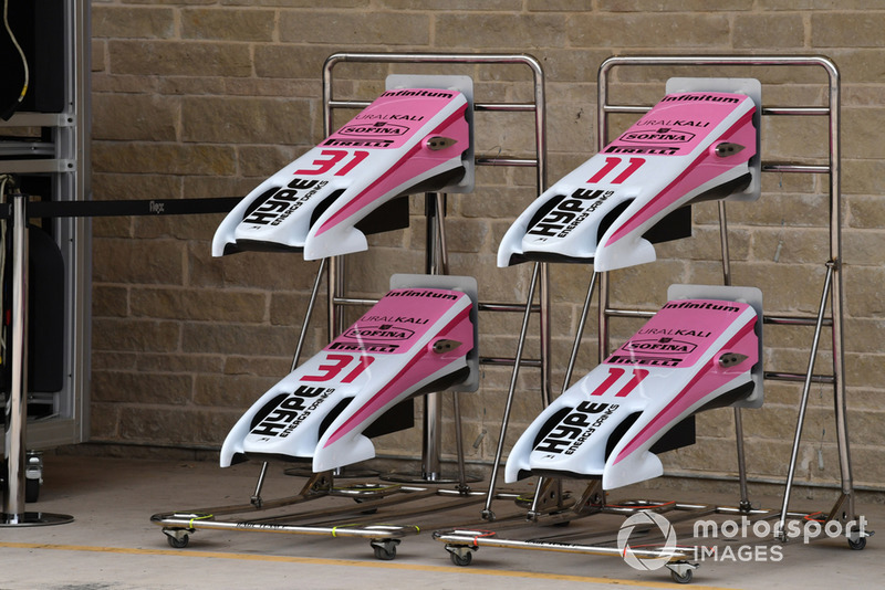 Racing Point Force India VJM11 noses