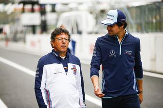 Luca Baldisserri, ingegnere, Williams F1, con Lance Stroll, Williams Racing
