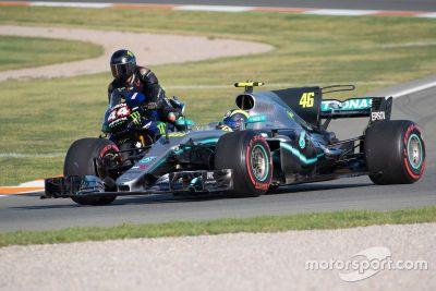 Fahrzeugtausch: Hamilton vs. Rossi