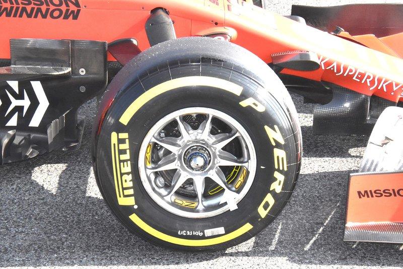 Ferrari SF90, dettaglio del cerchio