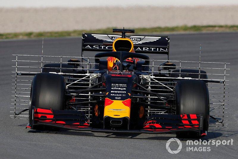 El Red Bull Racing RB15 con sensores aerodinámicos