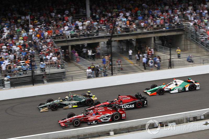 Ed Carpenter, Ed Carpenter Racing Chevrolet Graham Rahal, Rahal Letterman Lanigan Racing Honda Mikhail Aleshin, Schmidt Peterson Motorsports Honda Sebastian Saavedra, Juncos Racing Chevrolet