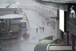La pluie tombe sur l'Indianapolis Motor Speedway